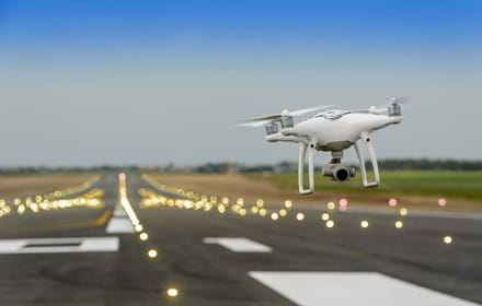 Drone At Airport Shutterstock